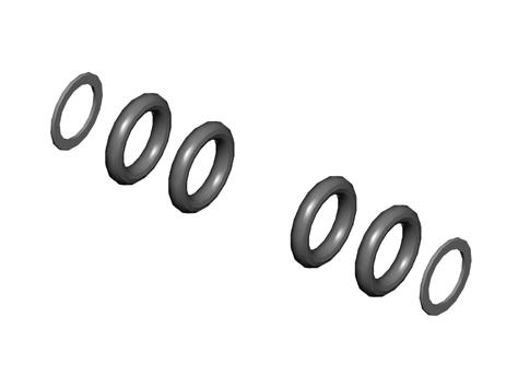 Mikado LOGO 400 O-Ring Set extra harte Dämpfung