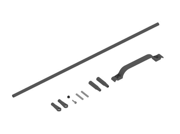 Mikado LOGO 550 SE CFK Heckanlenkung 22mm Heckrohr