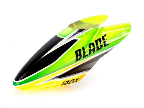 Blade 130X Fiberglass canopy green / orange