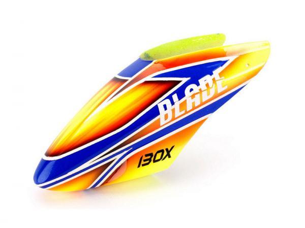 Blade 130X Fiberglass canopy orange / blue