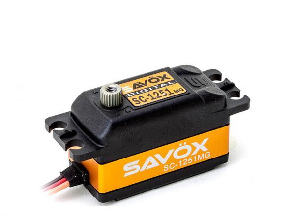 SAVÖX Low Profile Digital Servo SC-1251MG mit Metall - Getriebe
