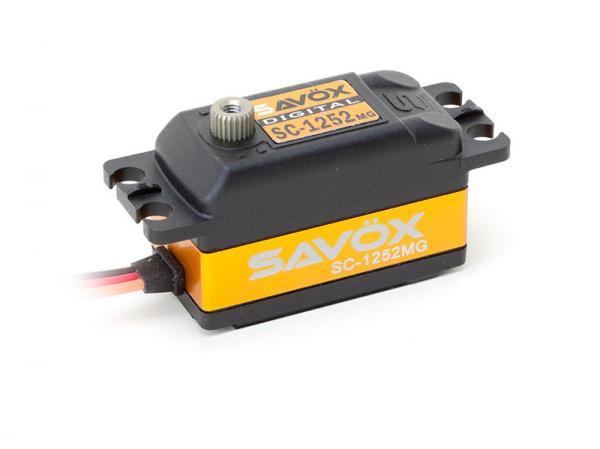 SAVÖX Low Profile Digital Heck Servo SC-1252MG mit Metall - Getriebe