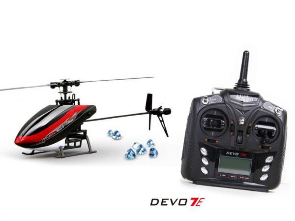 Walkera MINI CP Flybarless Micro 3D Heli mit deVention DEVO 7E