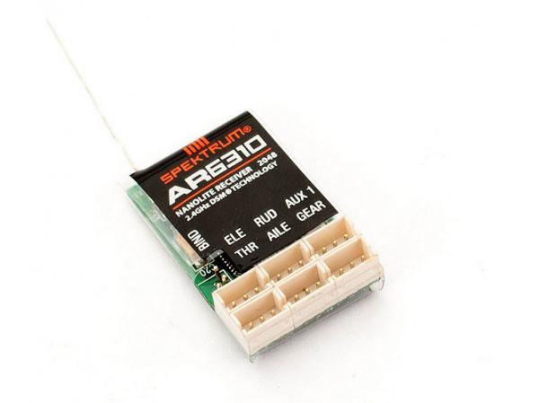 Spektrum AR6310 DSMX 6 Kanal Nanolite Empfänger