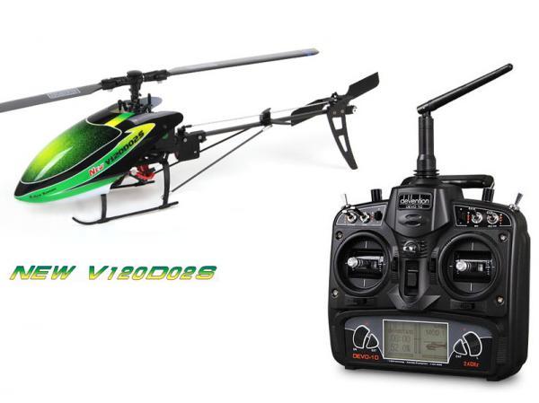 Walkera NEW V120D02S BNF Flybarless Micro 3D Heli mit deVention DEVO 10
