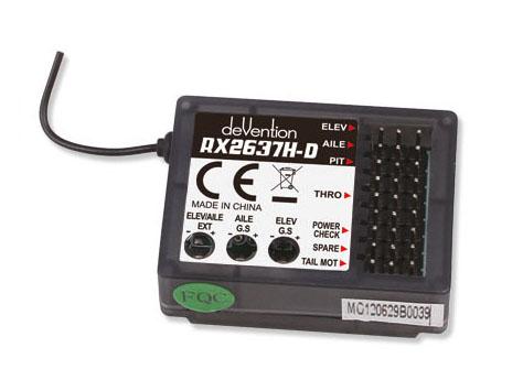 Walkera Master CP Empfänger und Flybarlesssystem RX2637H-D