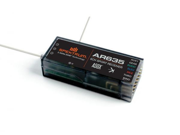 Spektrum AR635 6 Kanal AS3X Sport DSM2/DSMX Empfänger (lose)