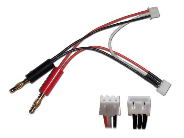 Ladekabel (T-REX 150) mit XH für Akku / XH für Ladegerät und 4mm Banane