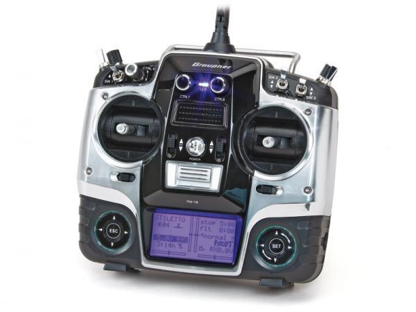 Graupner mx-16 8-Kanal HoTT Handsender nur Sender (leicht gebraucht)