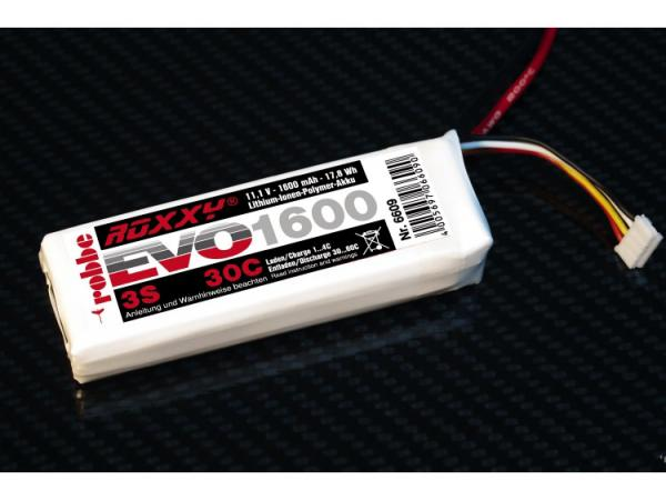 Li-Po Akku Roxxy Evo 3-1600 30C 11,1V 1600mAh