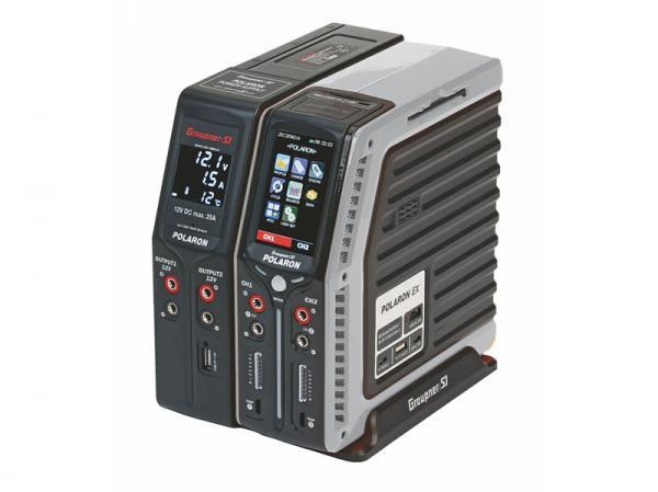 Graupner Polaron EX Combo Ladegerät silber 2x 400W + Netzteil