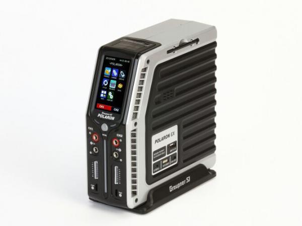 Graupner Polaron EX Ladegerät silber 2x 400W bei 24V