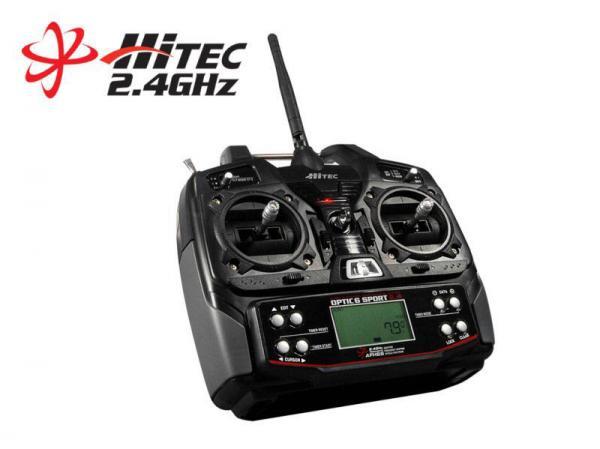 Hitec Optic 6 SPORT 2,4 GHz Sender mit Optima 6