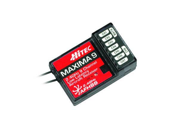 Hitec MAXIMA 9 2,4GHz 9 Kanal Empfänger (High Response) für A9X