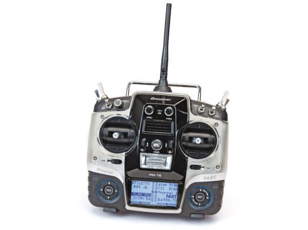 Graupner MX-16 HoTT Sender mit Empfänger GR-18 +3xG +3A