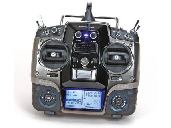 Graupner MX-20 HoTT Sender mit Empfänger GR-24 PRO +3xG +3A