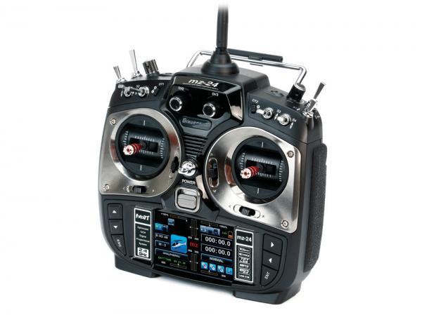 Graupner MZ-24 HoTT Sender mit Empfänger GR-24 PRO +3xG +3A