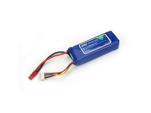 E-flite 800mAh 3S 11,1V 30C LiPo 18AWG JST