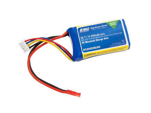 E-flite 450mAh 3S 11,1V 50C LiPo 18AWG JST