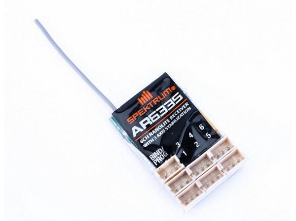 Spektrum AR6335 DSMX 6-Kanal Nanolite Empfänger mit AS3X