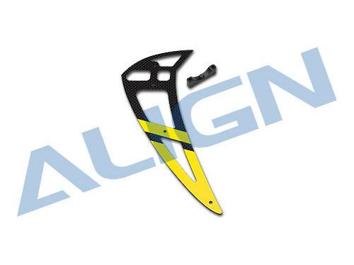 Align T-REX 700E / 700N PRO Leitwerkset Carbon - gelb