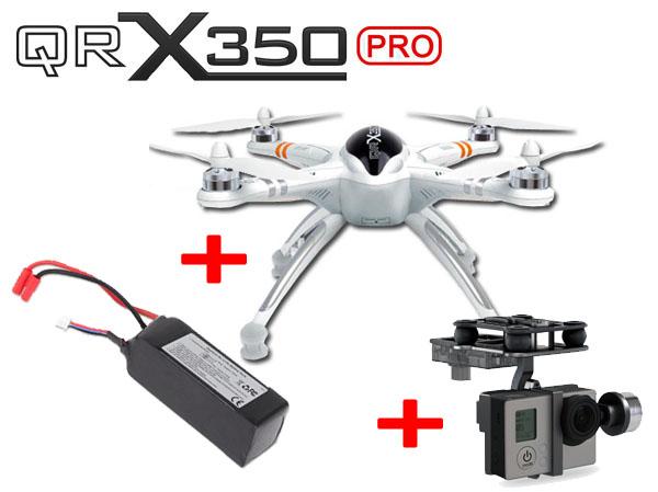 Walkera QR X350 PRO ARF ohne Empfänger LiPo Akku und Gimbal