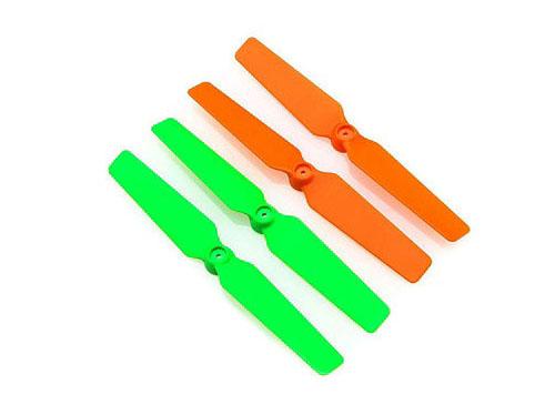 Blade 200QX 3D-Propeller (4er Set) orange / grün