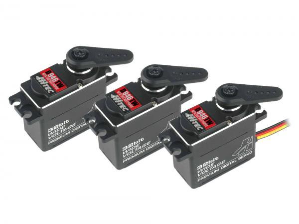 Hitec Taumelscheibenservo D946TW Full Metal Case 3er Set