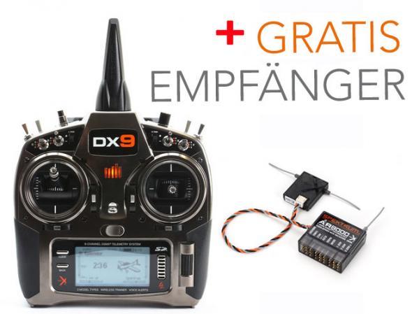 Spektrum DX9 Sender SET mit GRATIS EMPFÄNGER AR8000