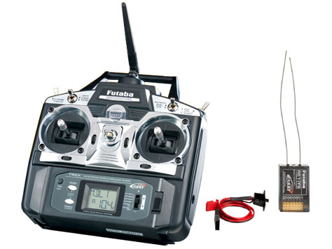 Futaba Sender FF-6 2,4 GHz (T6EXP) & Empfänger R617FS