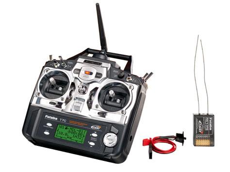 Futaba Sender FF-7 2,4 GHz (T7CP) & Empfänger R617FS