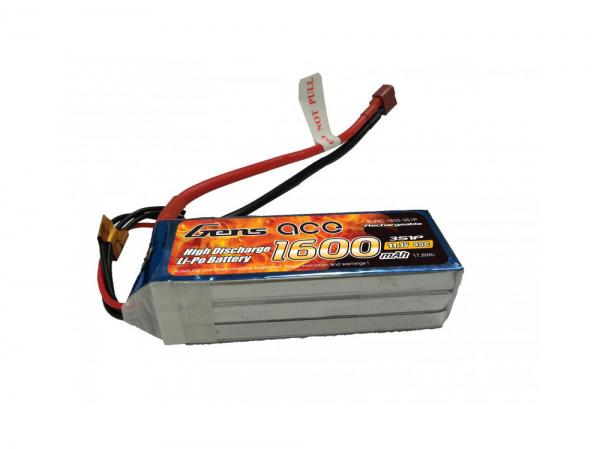 Gens ace 1600mAh 11.1V 40C 3S1P Lipo Akku Pack