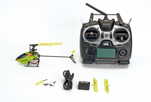 Graupner Heim 3D 100 WP Helikopter + mz-12 Handsender