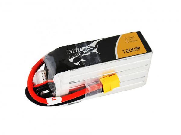 TATTU 1800mAh 22.2V 75C 6S1P Lipo Akku Pack