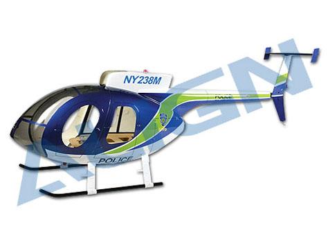 Align Hughes 500E Scale Rumpf blau/weiss T-Rex 600