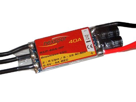 Brushless - Regler NEXSPOR NXP-40A-HP 40A