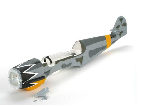 Parkzone Bf-109 Rumpf lackiert