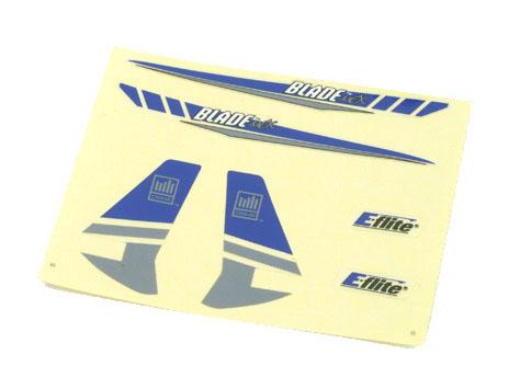 E-flite Blade mCX Dekorbogen silber
