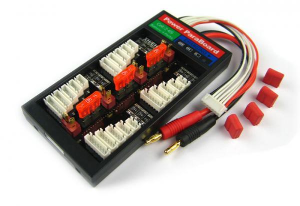 4er Parallellade-Board mit Sicherung T-Plug