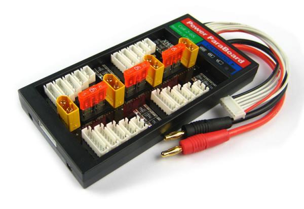 4er Parallellade-Board mit Sicherung XT60