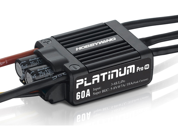 HOBBYWING Platinum Pro 60A Regler 2-6s BEC 7A für 450 Heli