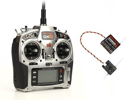 Spektrum DX8 DX8T 2,4GHz Sender & Empfänger AR8000 M1 SPM8801EU