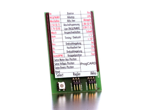 Kontronik Brushless Regler PROGCARD