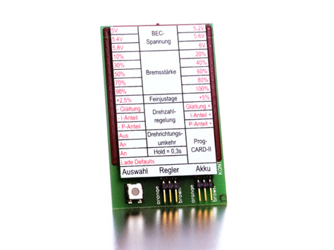 Kontronik Brushless Regler PROGCARD II