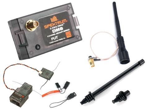 Spektrum DSM2 Modul Futaba kompatibel + AR7000