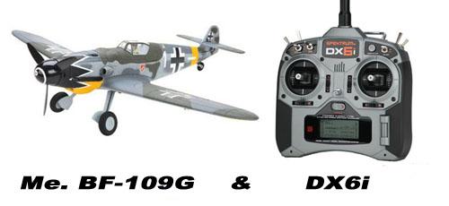 Parkzone Messerschmitt Bf109 Set mit Spektrum DX6i