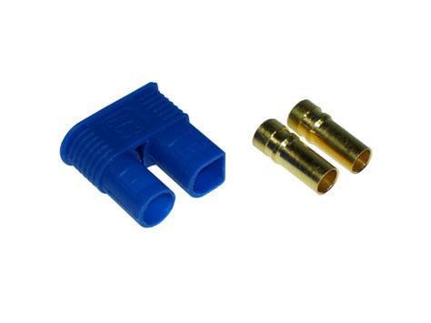 Goldkontakt Buchse 3,5mm mit Gehäuse blau EC3