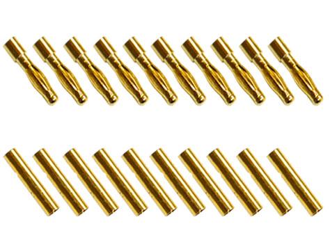 Goldkontaktverbinder 4 mm Set mit je 10 Stück