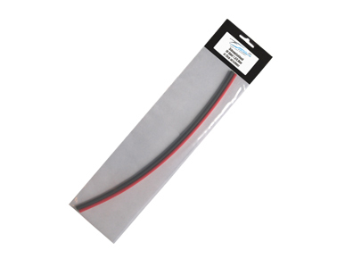 Schrumpfschlauch rot/sw 25cm  für Kabel Ø 4,0mm
