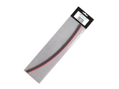 Schrumpfschlauch rot/sw 25cm  für Kabel Ø 4,8mm